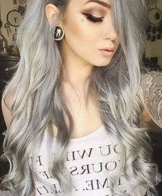 How To Color Your Hair In Gray-Silver, All about Hair color Grey Blonde Hair, Silver Blonde, Silver Hair, Pearl Blonde, Purple Hair, Color Your Hair, Dye My Hair, New Hair, Ombre Hair Extensions