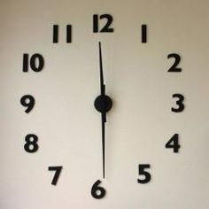 $38 Any Size Clock : Remodelista