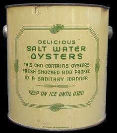 salt water oyster tin.