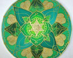 Rainbow mandala art spiritual gift Balance by HeavenOnEarthSilks