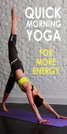 Do you often feel tired during the day? Do you wake up every morning feeling dull and down? This quick morning yoga routine will leave you feeling energised and ready to conquer your day. It is guaranteed to become as addictive as caffeine but even better for you!