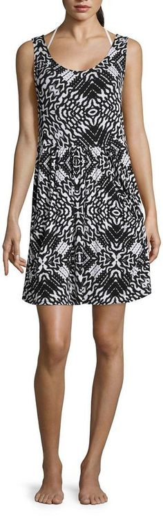 A.N.A a.n.a Pattern Jersey Swimsuit Cover-Up Dress