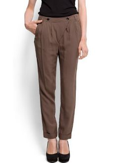 Mango Women's Tapered Trousers - Vendo MANGO. $29.99