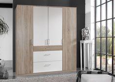 Kleiderschrank Click 180,0 Sägerau Weiß 10390. Buy now at https://www.moebel-wohnbar.de/kleiderschrank-click-180-0-saegerau-weiss-10390.html