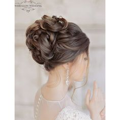 Glamorous Wedding Hairstyles with Elegance ❤ liked on Polyvore