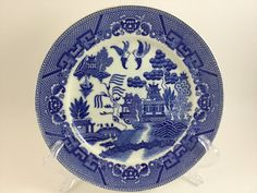 Vintage China Blue Willow Dinner Plate Made in by FindingYesterday