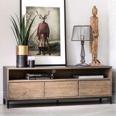 Bedroom Furniture Design, Living Room Furniture, Living Room Decor, Tv Stand Unit, Tv Stands, Living Room Goals, Tv Unit Design, Oak Dining Table, Tv Cabinets