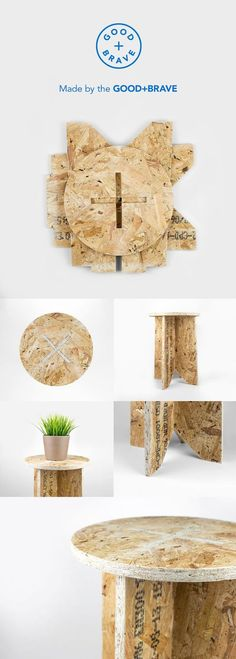 Product / The OSB board Stool Table from Good+Brave. www.goodandbrave.co.uk