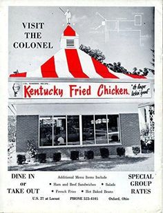 """Kentucky Fried Chicken Vintage Magazine Ad- """"Visit The Colonel"""""""
