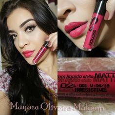 Mayara Oliveira Makeup: Resenha dos batons Líquidos da Koloss, puro BABADO !!