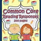 Common Core Reading Response higher order printables for fiction and non-fiction text designed to increase reading comprehension.  These response s...