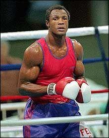 Great amateur boxer Felix Savon from Cuba.