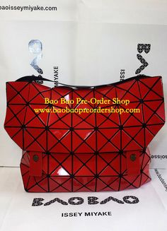 "Crossbody""Rock Shoulder-4"" in Deep Red. Latest model from Bao Bao Issey Miyake! Comes with an adjustable, long shoulder strap. Very roomy!  Size: H30×W40×D11(cm) >>To Order, please message/email via the platform below<< ♥️FB Inbox: https://www.facebook.com/messages/baobaohandbags ♥️Email: welovebaobao@gmail.com"