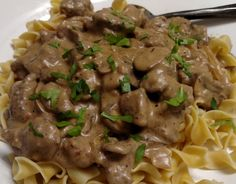 Venison Stroganoff - Cook'n with Mrs. G - Venison Stroganoff – Cook'n with Mrs. G Venison Stroganoff - Elk Recipes, Stew Meat Recipes, Crockpot Recipes, Cooking Recipes, Game Recipes, Deer Steak Recipes, Dinner Recipes With Venison, Recipes With Deer Meat, Deer