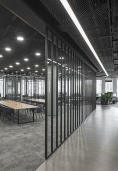 Corridor.  Office interior project by ARCH(E)TYPE. #archetype #office #interior #glass