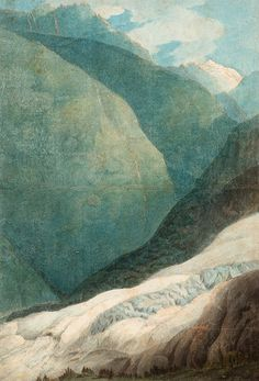 """""""The Source of the Arveyron"""" by Francis Towne, 1781"""