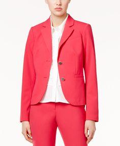 Calvin Klein Two-Button Blazer - Suits & Suit Separates - Women - Macy's