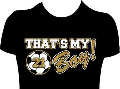 Thats My Boy Soccer Mom Shirt Womens Personalized by GlitzyTees