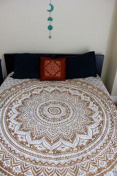 PREORDER Gypsy Goddess Gold Mandala Tapestry by LadyScorpio101