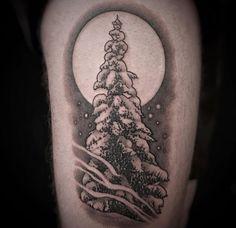 Wilderness tree tattoo by Christina Ramos at Memoir Tattoo
