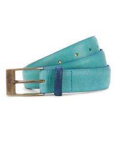 BRIGHTR - Bright colour block belt - Green | Men's | Ted Baker