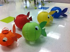 1000 images about vbs 2016 submerged on pinterest vbs for Paper lantern fish