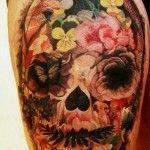 human skull flower | Skull And Flowers Tattoo Category Flower Tattoos Mexican Tattoo ...