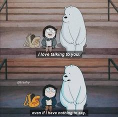 ❤✨ on We Heart It We Bare Bears Wallpapers, Panda Wallpapers, Cute Cartoon Wallpapers, Cute Panda Wallpaper, Bear Wallpaper, Disney Wallpaper, Ice Bear We Bare Bears, We Bear, Pretty Quotes