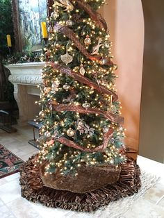 Luxurious Chocolate Brown Christmas Tree Skirt to complete your Holiday Decor!