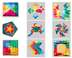 colorful wooden toys from Grimms