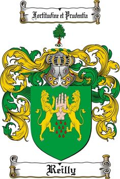 $7.99 Reilly Coat of Arms Reilly Family Crest Instant Download