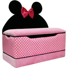 Disney Minnie Mouse Large Toy Box, big girl room