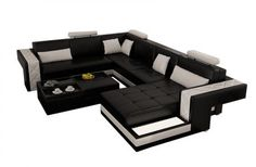 Avatar Modern Leather Sectional by Scene Furniture - Opulentitems.com