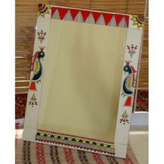 Madhubani borders - Google Search Colorful Art, Indian Art Paintings, Gond Painting, Tribal Art, Madhubani Art, Mirror Painting, Painting, Mini Canvas Art, Madhubani Painting