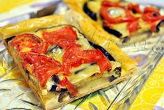 Placinta cu vinete, rosii si cascaval | gurmandino.ro Vegetable Pizza, Quiche, Vegetables, Breakfast, Food, Morning Coffee, Vegetable Recipes, Eten, Veggie Food