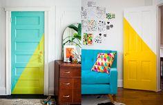 Uma ideia pra se inspirar: portas coloridas!