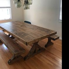 Farmhouse Table and Benches, Farm House Table and Bench, Farm Table, Farm Bench, Rustic Farm Table and Bench Farmhouse Table With Bench, Farmhouse Kitchen Tables, Rustic Table, Trestle Table, Wood Tables, Dining Tables, Side Tables, Coffee Tables, Table Bench