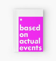 '* based on actual events' Notizbuch von kosmar Tiger Print, Carousel, It Works, Base, Journal, Events, Artwork, People, Iphone Case Covers