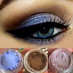 Get This Look Trio- All Natural, Vegan Eyeshadow and Eyeliner Makeup. Cruelty Free.