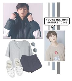 """""""Lim Changkyun"""" by lazy-alien ❤ liked on Polyvore featuring Acne Studios, Retrò, Dr. Martens, im, monstax and LimChangKyun"""