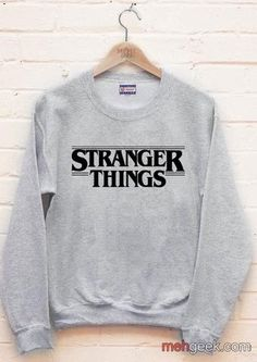 Stranger Things Full B/w Unisex Crewneck Sweatshirt Hipster School Outfits, Cute Outfits For Kids, Cool Outfits, Casual Outfits, Fashion Outfits, Stranger Things Merchandise, Stranger Things Hoodie, Trendy Hoodies, Vetement Fashion