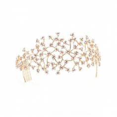 Coral Multi Pearl Branch Tiara by Lulu Frost £285
