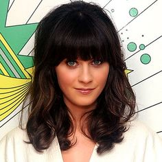 Zooey Deschanel- love the bangs and length of her hair