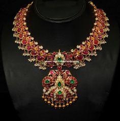 attigai ruby bridal necklace