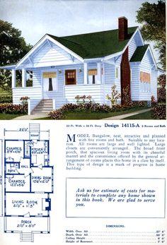 American home designs – Vintage house plans Bungalow Floor Plans, Home Design Floor Plans, House Floor Plans, Bungalow Ideas, Craftsman Bungalow Exterior, Craftsman Bungalows, Craftsman Kitchen, Craftsman Style, American Home Design