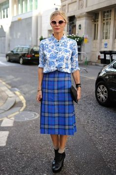 Print mixing with a kilt?