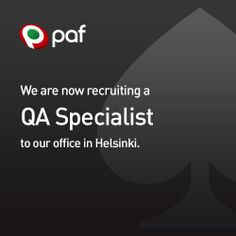 Paf is also looking for a proven self-starter QA Specialist! Read more and apply today! Job Opening, Helsinki, Read More, Uni, Self, How To Apply, Reading, Word Reading, Reading Books