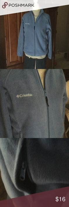 Columbia women's small jacket Columbia jacket, nice shade of blue, pics don't do it justice, last pic is closet.EUC, columbia Jackets & Coats Utility Jackets