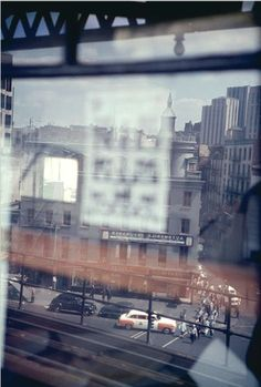 By Saul Leiter, c. 1955, From the El.
