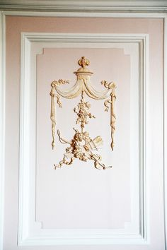 """dustjacketattic: """" Marie Antoinette walls #2. """" Versailles, Stencils, Wall Molding, Moulding, French Decor, Marie Antoinette, Architecture Details, Architecture Interiors, Pink And Gold"""